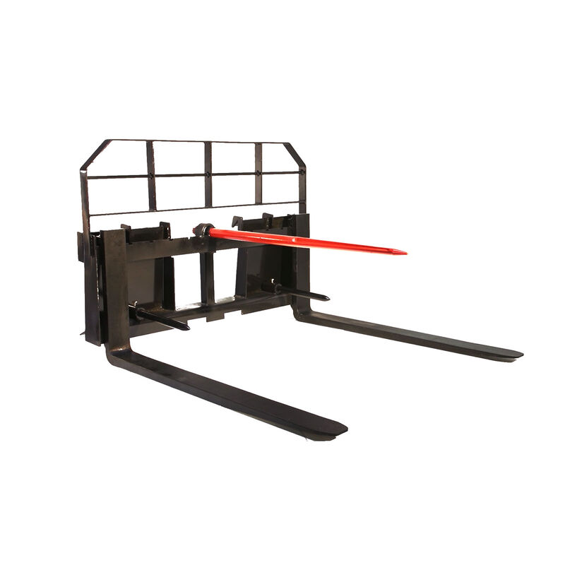 Titan 42-in HD Pallet Fork Attachment 5,500 lb Capacity Hay Bale Spears