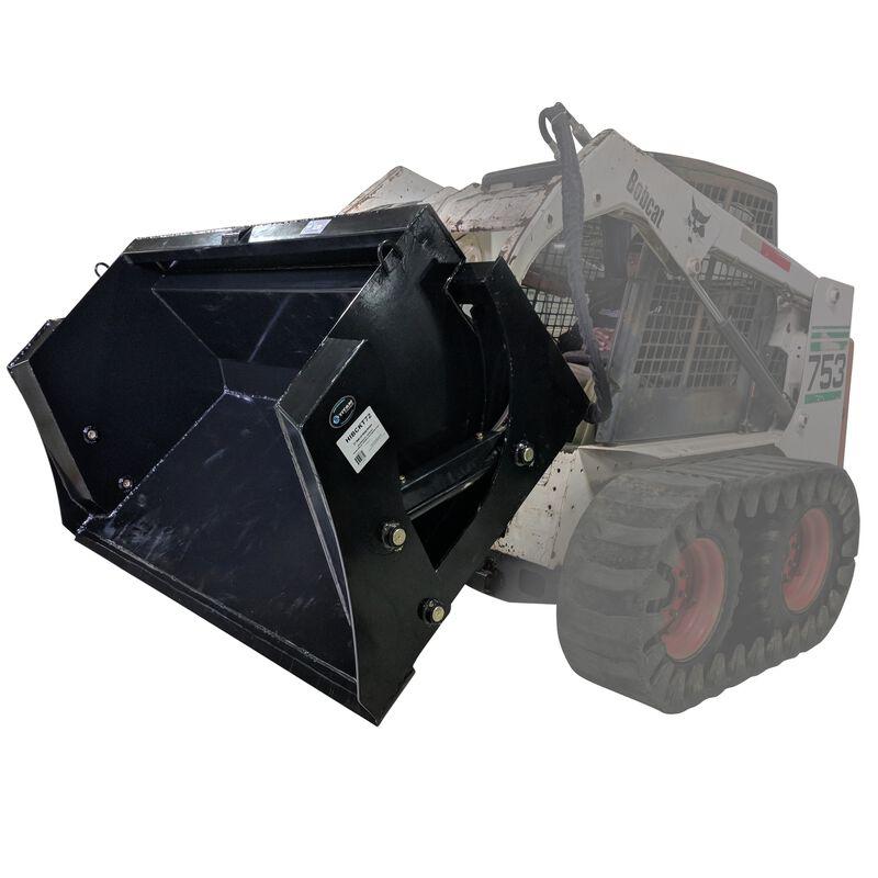 "72"" High Dump Bucket Skid Steer Attachment"
