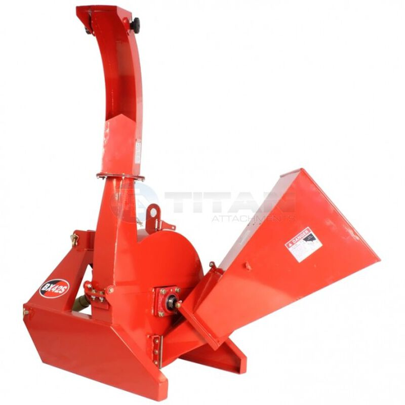 "3-Point Attachment Wood Chipper For Tractors Up To 40HP, Titan BX42 PTO 4""x10"""