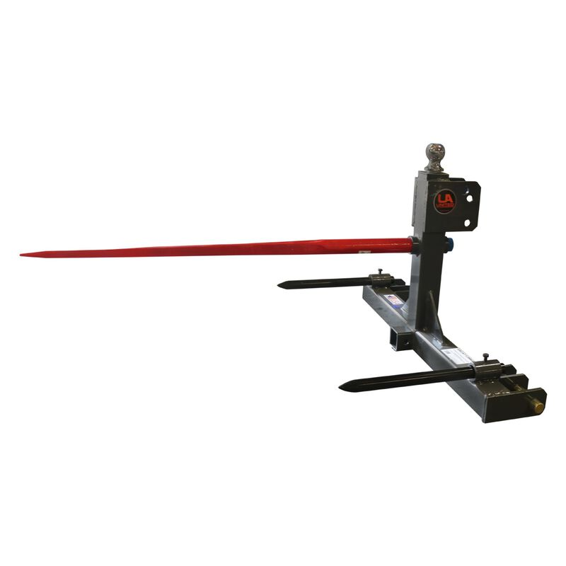 3 Point Gooseneck Trailer Hitch Receiver and Hay Attachment With Spears | Cat 1