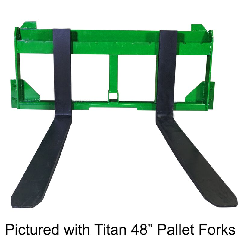 """UA Made in the USA 48"""" Pallet Fork with 2"""" Trailer Receiver Hitch fit John Deere"""