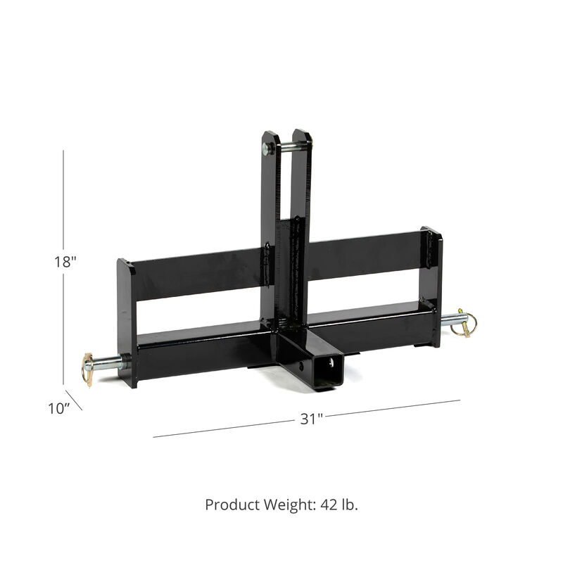 "SCRATCH AND DENT - Tractor Drawbar with Suitcase Weight Brackets | 2"" Receiver 