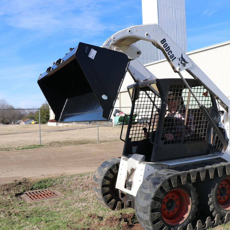 "84"" Skid Steer Bucket Attachment 1/8"" Thick 
