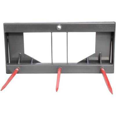 """UA Made in the USA HD Skid Steer Hay Bale Attachment with 27"""" Spears"""