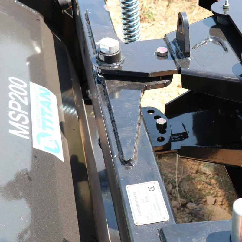 "79"" Skid Steer DozerBlade Snow Pusher | Manual Rotation"