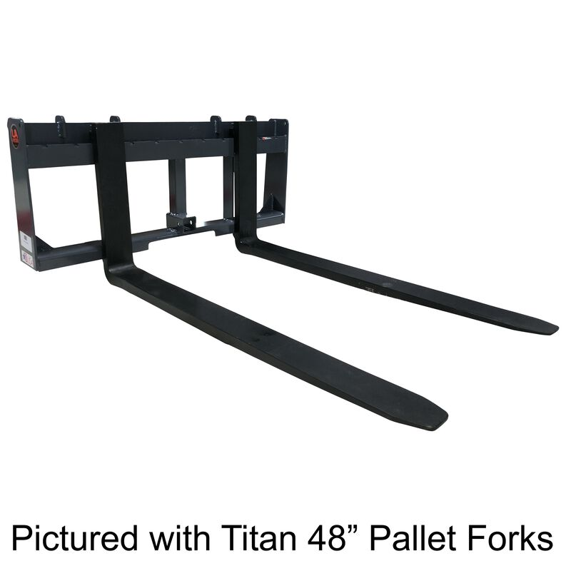"UA Made in the USA 48"" Pallet Fork & Trailer Hitch Skid Steer Attachment"