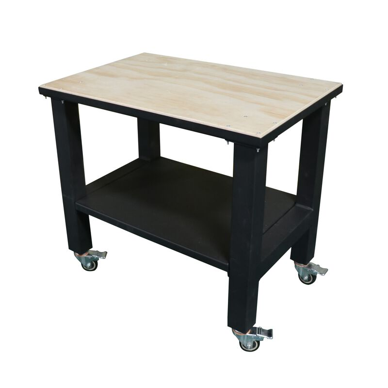 "24""x36"" Heavy Duty Mobile Work Table with Wood Top"