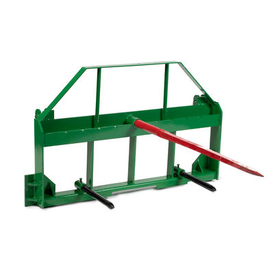 Pallet Fork Frame Attachment, Hay Spears and Stabilizers, Fit John Deere Tractors