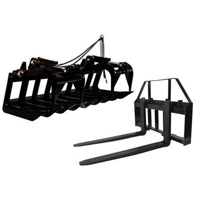 """60"""" Root Grapple Bucket & 42 HD Pallet Forks Package"""