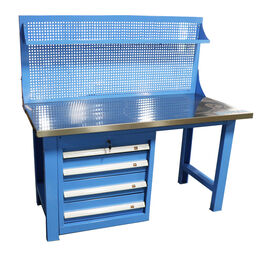 5 FT Work Bench Table With Tool Cabinet