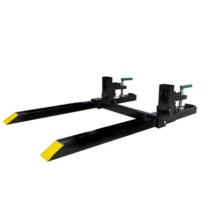 """30"""" Clamp on Pallet Fork 1500 lb Capacity w/ Stabilizer Bar"""