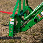 Pallet Fork Frame Attachment with Receiver Hitch, 32-in Hay Spears, and Stabilizers – Fits John Deere Loader