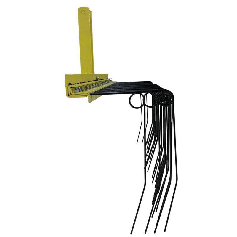 Pine Straw Needle Rake 4 ft for Cat 0, 3 Point