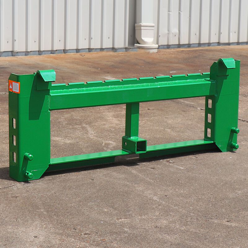 "Pallet Fork Frame With 2"" Trailer Receiver Hitch Fits John Deere Loader"