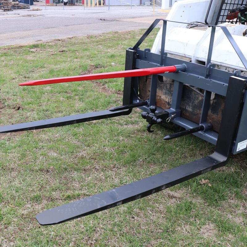 """UA 48"""" Pallet Fork Frame Attachment with Headache Rack and Hitch 