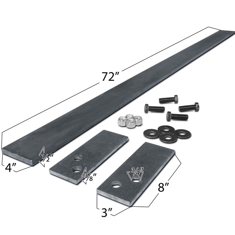 "72"" Custom Skid Steer Tooth Bar Kit w/ 7 23TF Teeth & Shanks"