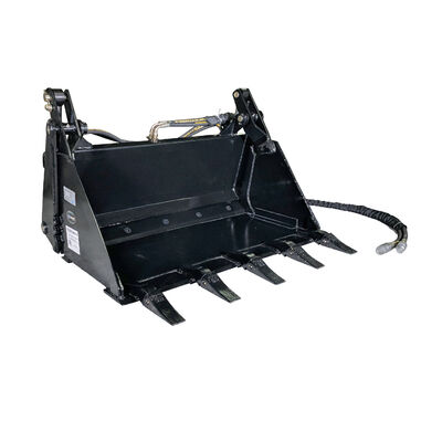 42-in 4-In-1 Combo Mini Skid Steer Bucket with Teeth