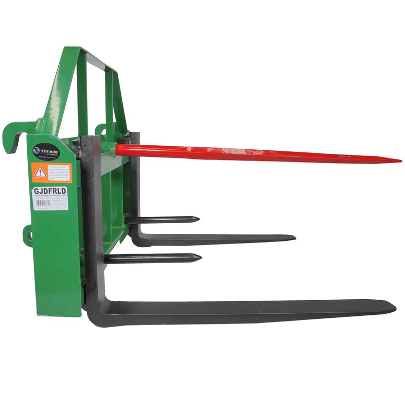 "36"" Pallet Fork Hay Bale Spear Attachment Fits John Deere Global Euro Loaders"
