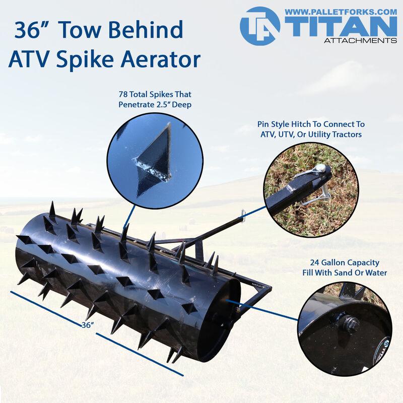"36"" Tow Behind ATV Drum Spike Aerator"