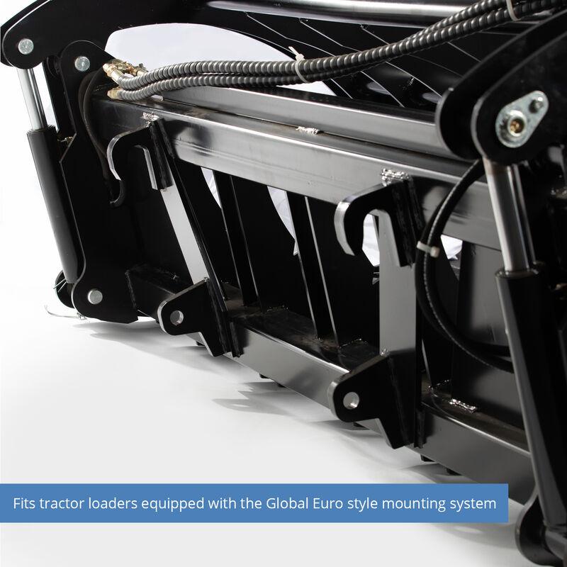 Titan 72-in HD Root Grapple Rake Attachment Fits Global Euro
