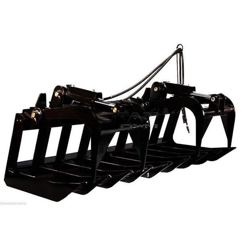 "60"" Root Grapple Bucket & 42 HD Pallet Forks Package"