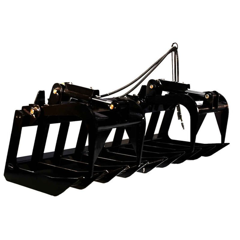 "60"" Skid Steer Root Grapple Bucket Attachment"