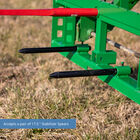Titan 50-in Pallet Fork Frame Attachment with Receiver Hitch, 39-in Hay Spears, and Stabilizers – Fits John Deere Loader