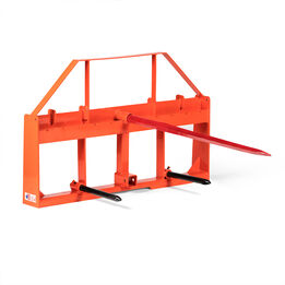 UA Made in the USA Pallet Fork Orange Hay Frame Attachment W/ 49-in Spear And Stabilizers