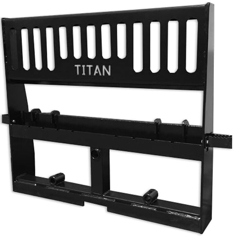 "Titan 48"" Pallet Fork Attachment Skid Steer Universal HD Pro Duty Tractor Loader"