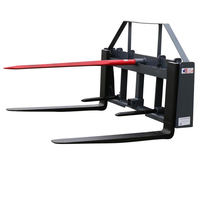 "UA 36"" Pallet Fork Hay Frame Attachment w/ Spear Rack & Hitch"