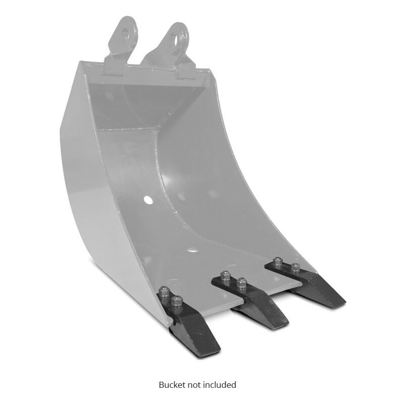 Backhoe Bucket 3-Piece Replacement Tooth Kit