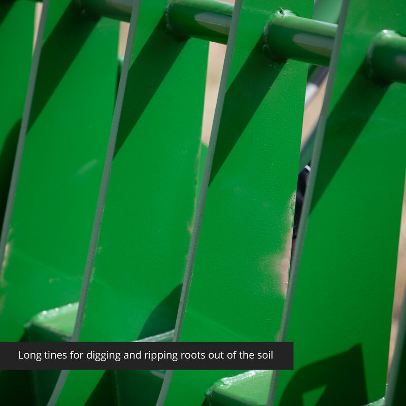60-in Root Grapple Rake Attachment Fits John Deere Loaders