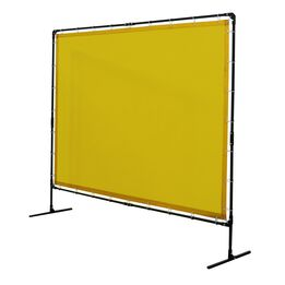 6'x8' Yellow Flame Retardant Welding Screen Curtain with Steel Frame
