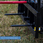 Titan 60-in XL Hay Frame Attachment with Receiver Hitch, 32-in Hay Spears, and Stabilizers