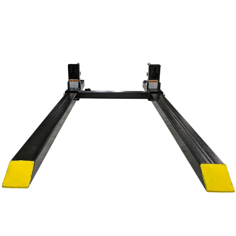 Clamp on Pallet Forks w/ Adjustable Stabilizer Bar & Ratchet Binders Loader 1500