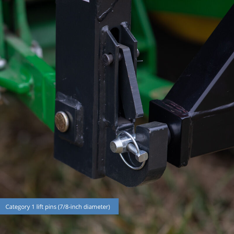 2-in Receiver Hitch, Category 1, 3-Point – Quick Hitch Compatible