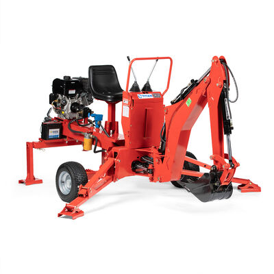 Towable Backhoe W/ 12-in Bucket