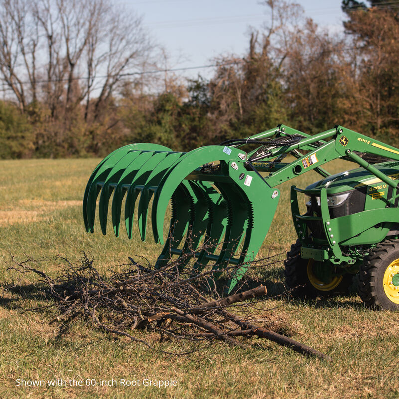 72-in HD Root Grapple Rake Attachment Fits John Deere Loaders