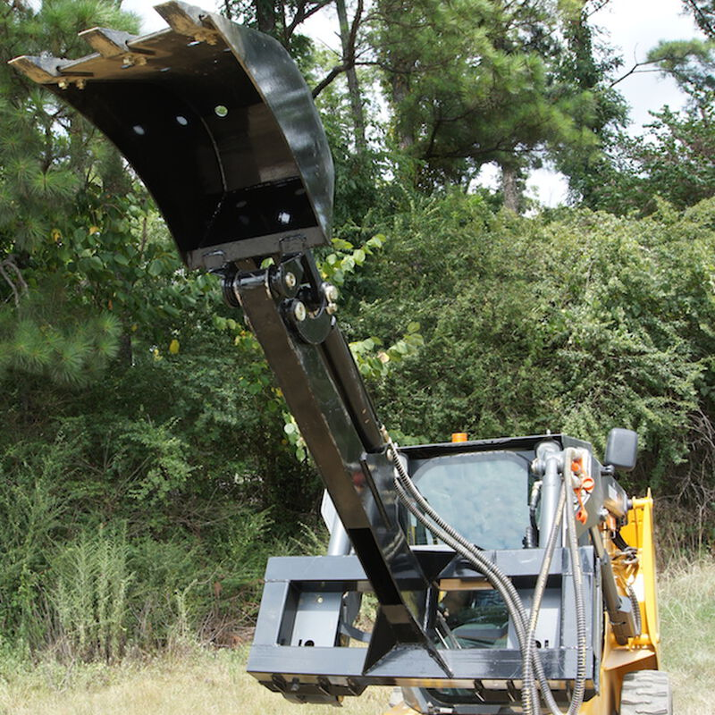 Skid Steer Fronthoe Excavator Attachment w/ 16-in Bucket and Thumb