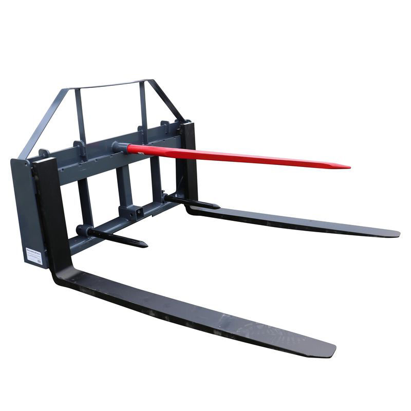"UA 48"" Pallet Fork Hay Frame Attachment with Spears Rack and Hitch 