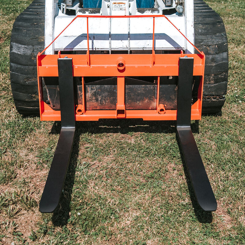UA Made In The USA Orange Hay Frame Attachment W/ 42-in Pallet Forks