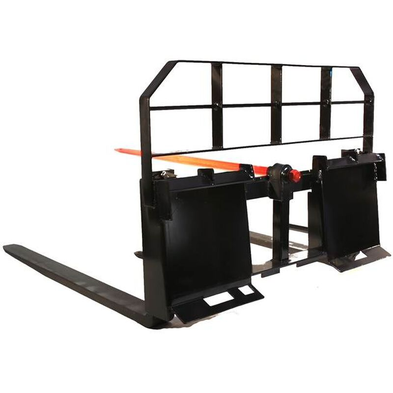 "Titan 48"" Pallet Fork Hay Bale Spear Attachment 5500 lb Capacity for Skid Steer"