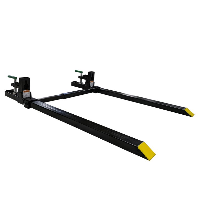 """43"""" LW Clamp on Pallet Forks 1,500 lb Capacity w/ Stabilizer Bar"""