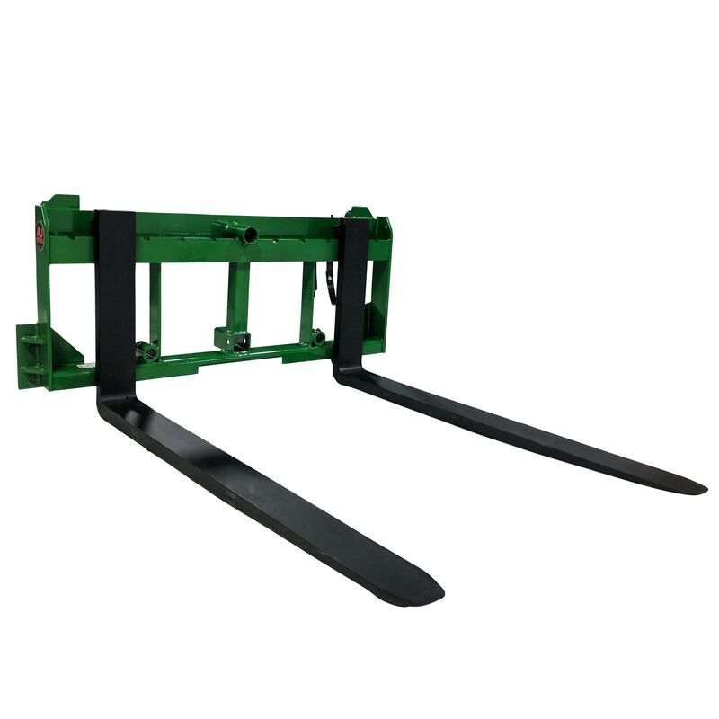 "UA Made in the USA 42"" Pallet Fork Hay Bale Spear Attachment w/ Hitch Fits JD"