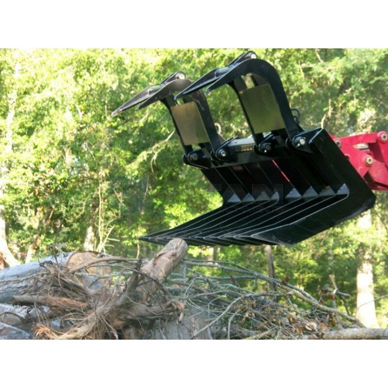 "72"" Root Grapple Bucket & 48"" HD Pallet Forks"