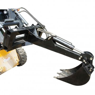 Skid steer Fronthoe excavator attachment with 12 inch Bucket