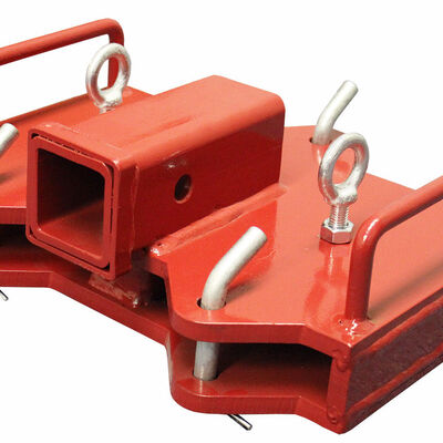 Forklift Hitch and Receiver for dual forks