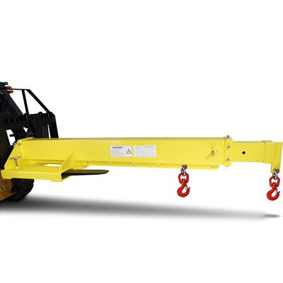 Adjustable Hoist Forklift Jib Boom Crane -  6000 lb. Lift Capacity Truss