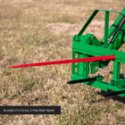 Pallet Fork Frame Attachment with Receiver Hitch, 39-in Hay Spears, and Stabilizers – Fits John Deere Loader