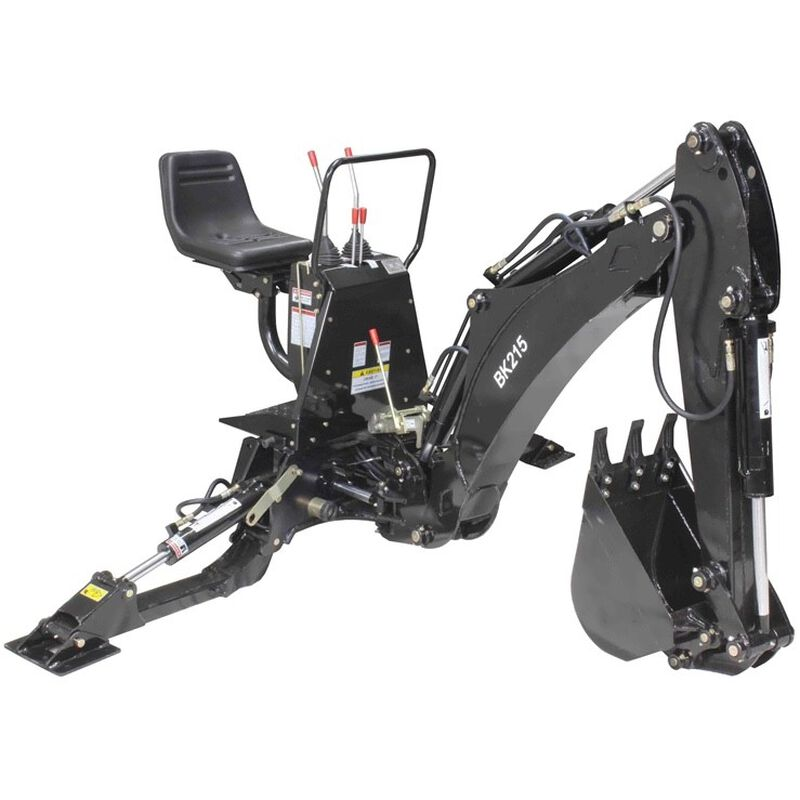 BK215 3 Point Hitch Backhoe Fits Cat 1 or 2